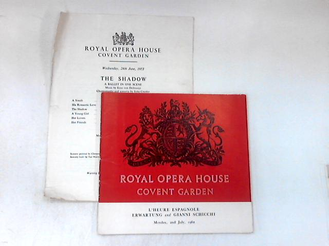 Royal Opera House, Covent Garden (2 Programmes) by Various