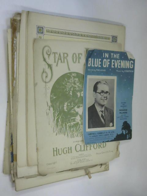 10 Sheets of Sheet Music including Star of Love Valse by Hugh Clifford by NA