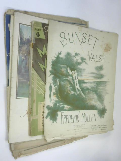 10 Sheets of Sheet Music including Music Hall Memories by Dan Leno and Sunset Valse by F Mullen by NA