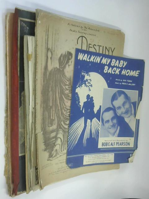 10 Sheets of Sheet Music including Walkin' my Baby Back Home by Fred Ahlert by NA