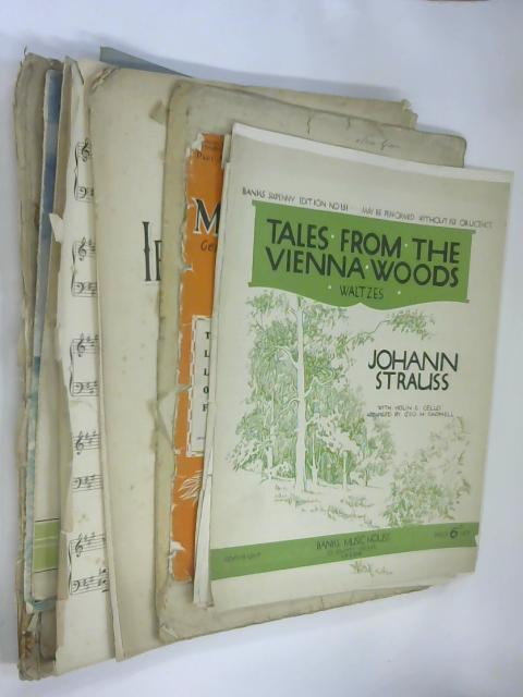 10 Sheets of Sheet Music including Tales From Vienna Woods by Johann Strauss by NA