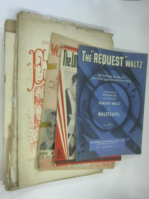 10 Sheets of Sheet Music including The Request Waltz by Waldteufel by NA