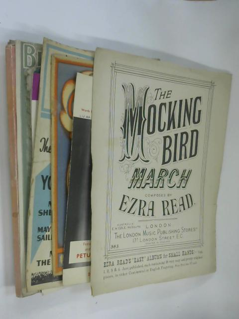 10 Sheets of Sheet Music including The Mocking Bird by Ezra Read by NA