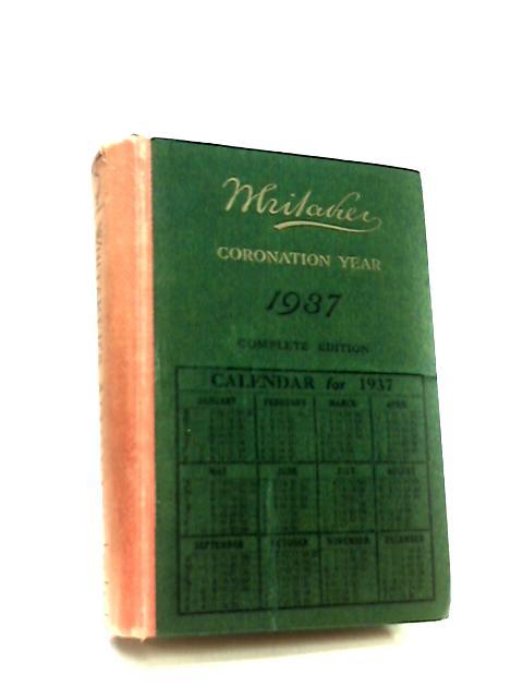 Whitakers Almanack 1937 by Joseph Whitaker