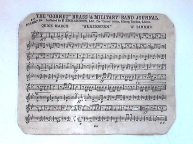 Double sided sheet music card by Allen & Rimmer