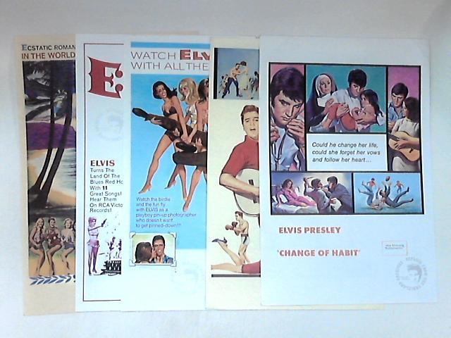 5 Vintage Elvis Presley Promotional A4 Posters by NA