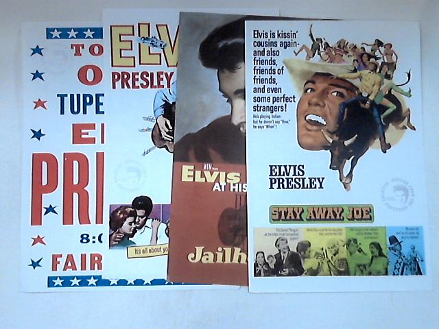 4 Vintage Elvis Presley Promotional A4 Posters by NA
