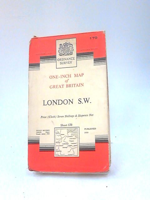 London S.W. One-inch Map of Great Britain by Ordnance Survey