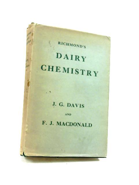 Richmond's Dairy Chemistry by Davis, J G MAcDonald, F J