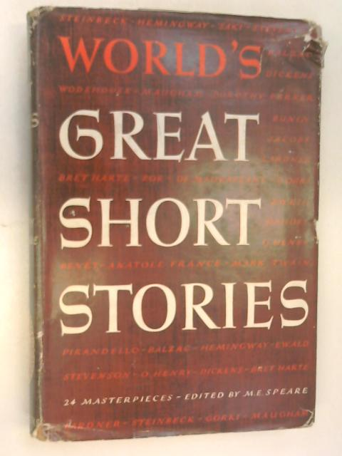 World's Great Short Stories by Speare, M.E.