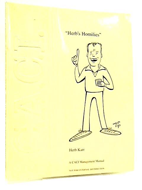 Herbs Homilies by Herb Karr