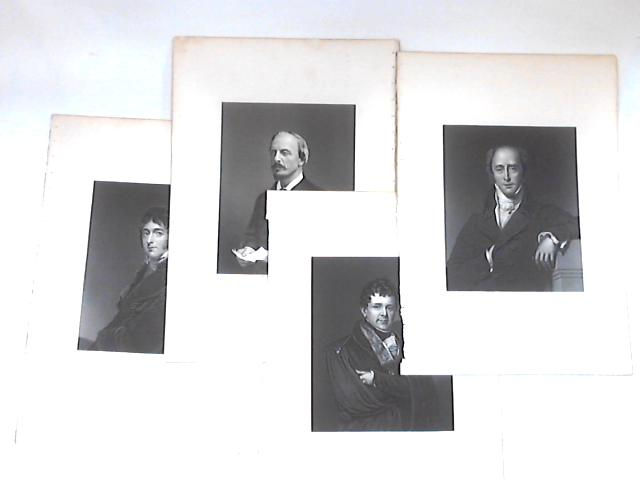 Collection of 4 pictorial plates of historical political figures By None