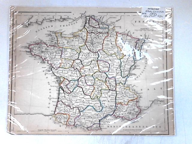 Antique Map, hand coloured, circa 1840 By None