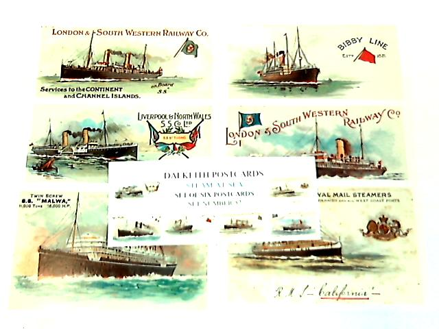 Steam At Sea - Set of 6 Postcards By NA