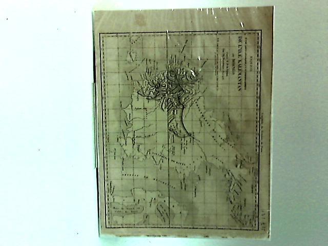Esquisse d'une carte Geographique et Ethnographique de L'ile Kalemantan ou Borneo (Book Plate) By Duvotenay