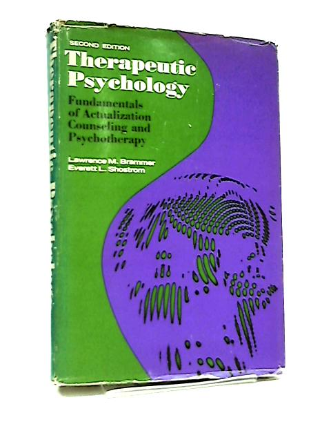 Therapeutic Psychology By Lawrence Brammer