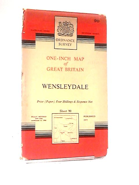 One-Inch Map of Great Britain: Wensleydale by Ordnance Survey