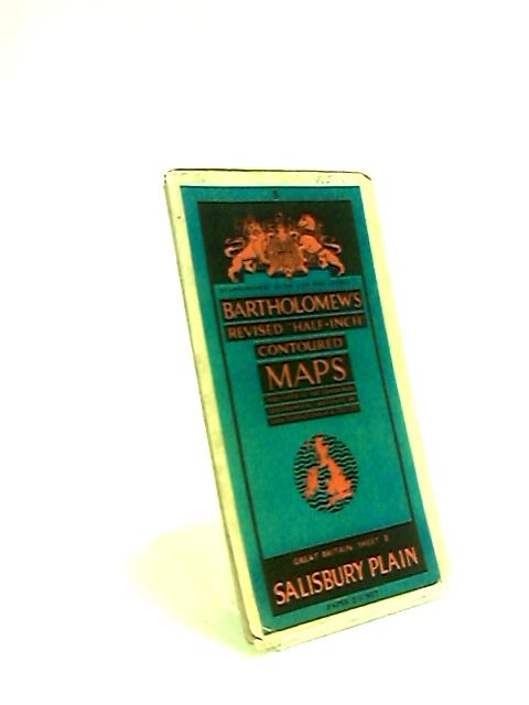 Salisbury Plain: Bartholomew's Revised Half-Inch Contoured Map Sheet 8 by Anon