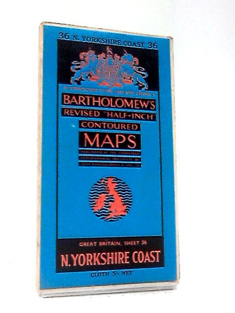 Revised Contoured Map N. Yorkshire Coast by Bartholomew
