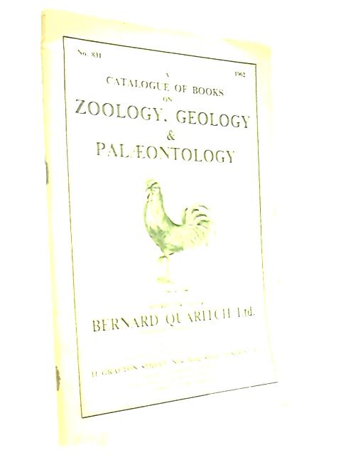 Catalogue Books on Zoology Geology Palaeontology No.831 by Various