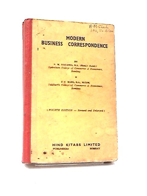 Modern Business Correspondence by S. M. Nagamia & J. C. Bahl