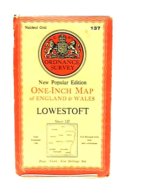 One-Inch Map of England & Wales Sheet 137 Lowestoft by Anon