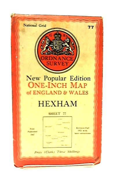 One Inch Map of England & Wales Sheet 77 Hexham by Anon