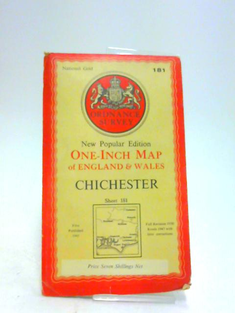 Chichester One-Inch Map New Popular Edition Sheet 181 on Cloth by Ordnance Survey