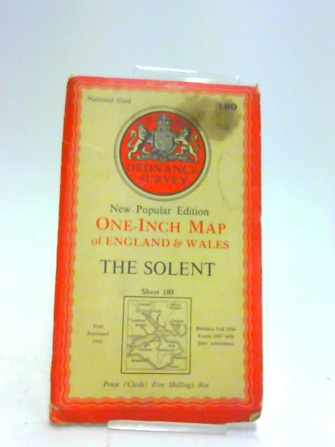 Ordnance Survey New Popular Edition One-Inch Map of England & Wales the Solent Sheet 180 by Ordnance Survey: