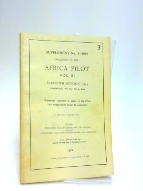 Supplement 4-1962 to the african pilot by Anon