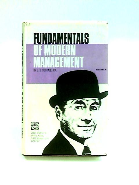 Fundamentals of Modern Management By Dugdale, J. S.