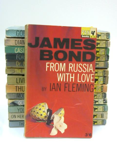 Complete Set of 14 Vintage 1960s James Bond Pan Paperbacks by Ian Fleming