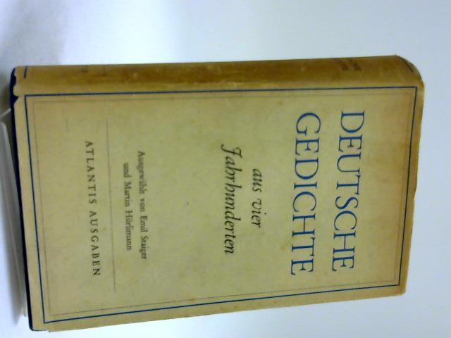 Deutsche Gedichte by Staiger, E & Hurlimann, M