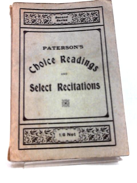 Choice Readings and Select Recitations by Thomas  Paterson