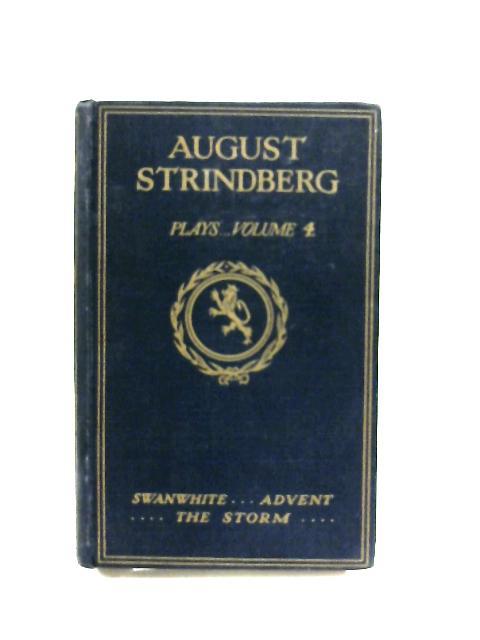 Plays Volume 4 by August Strindberg