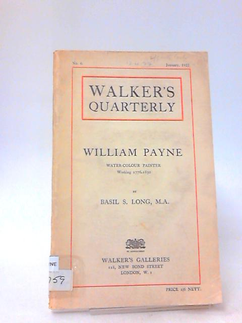 Walkers Quarterly No: 6 1922 by Unknown
