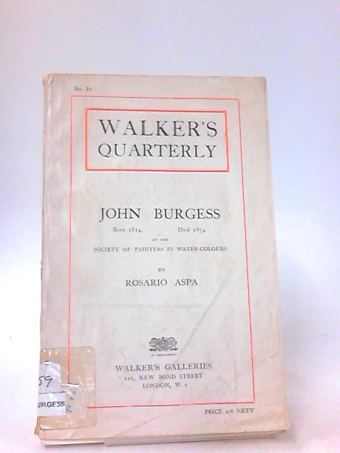 Walkers Quarterly No 16 by John Burgess