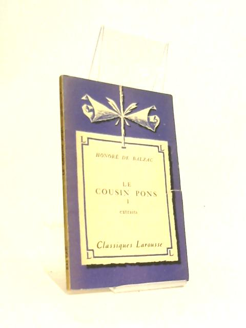 Le Cousin Pons I by Honore De Balzac