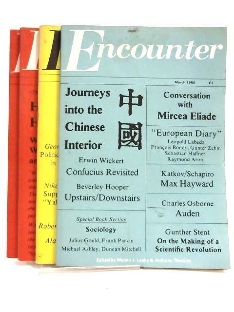 Encounter 1980 - March, June, July, August (set of 4 magazines) by Melvin J. Lasky