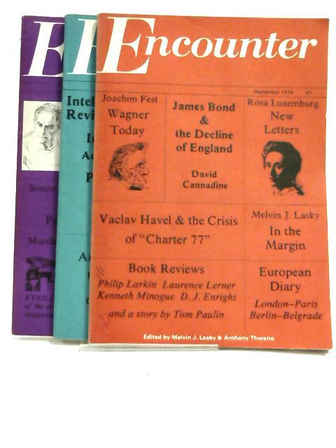 Encounter 1979 - September, October, November (set of 3 magazines) by Melvin J. Lasky