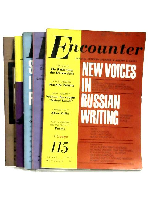 Encounter 1963 - April, May, June, July, August (set of 5 magazines) by Stephen Spender