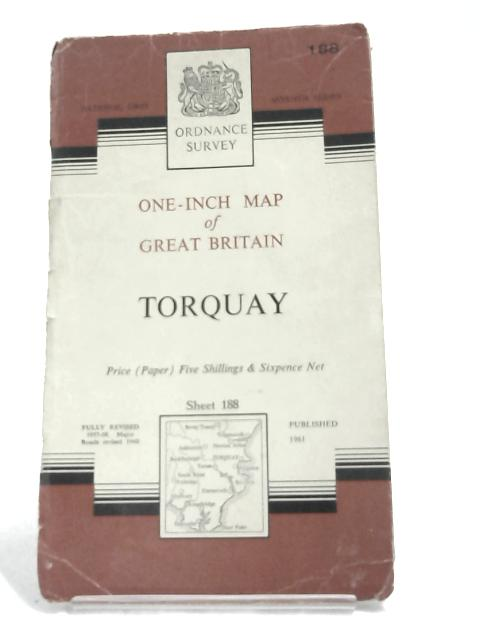 Ordnance Survey One-Inch Map : Torquay- 1961 by Anon