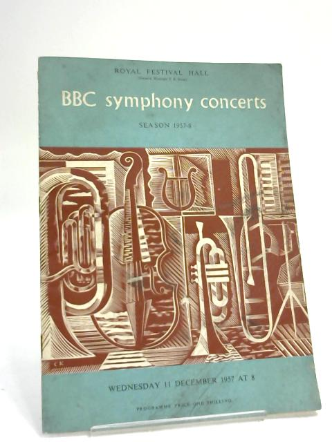 BBC Symphony Concerts, Season 1957-8 by Royal Albert Hall