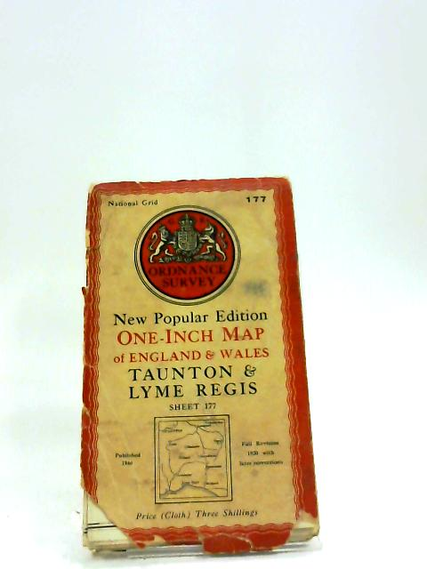 Taunton & Lyme Regis New Popular Edition One-Inch Map Sheet 177 by Ordnance Survey