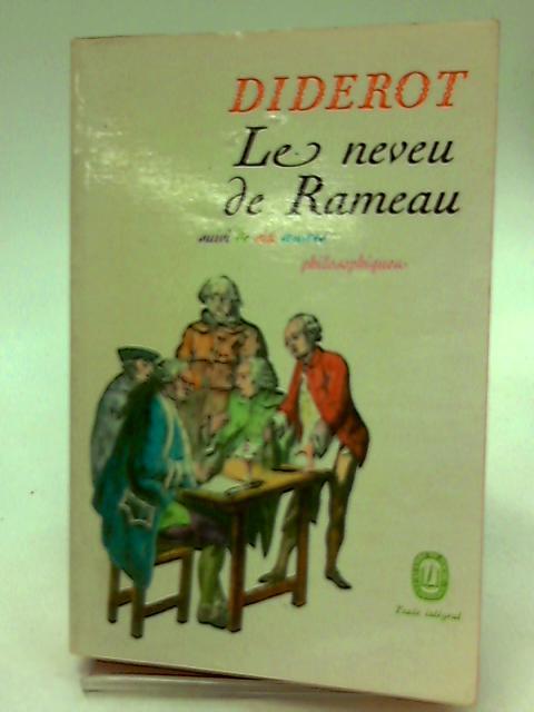 Le neveu de Rameau suivi de six oeuvres philosophiques by Denis Diderot , Frantz André Burguet, Geneviève
