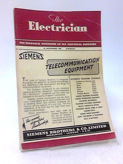 The Electrician, 1950, Number 3780, Volume CXLV, Number 21 by Stanley Rattee