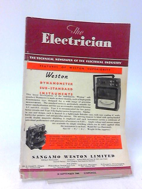 The Electrician, 30 September 1949, Volume CXLIII, No. 14 by Stanley Rattee