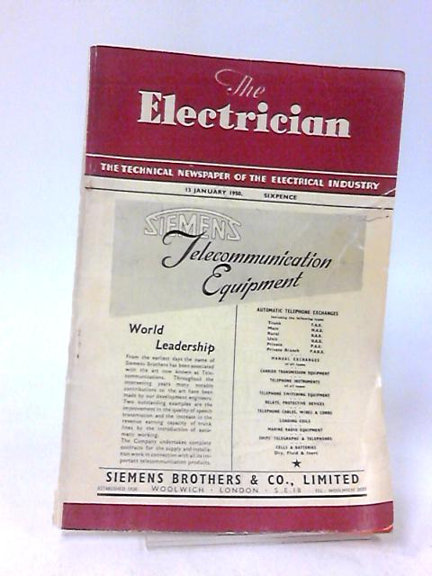 The Electrician, 13 January 1950, Volume CXLIV, No. 2 by Stanley Rattee