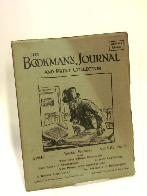 The Bookman's Journal and print collector volume viii by Anon