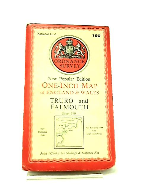One-Inch Map of England & Wales Sheet 190 Truro & Falmouth by Anon